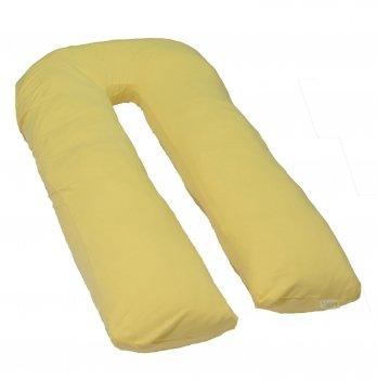 Подушка для беременных модель П Мои Подушки, наволочка трикотаж желтый