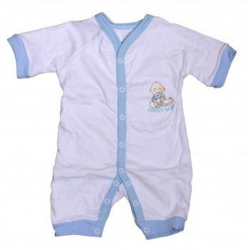 Песочник-комбинезон SWEET BABY Кроха, с голубой окантовкой