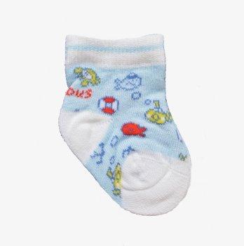Носки с черепахами и рыбками, Brums Italy голубые