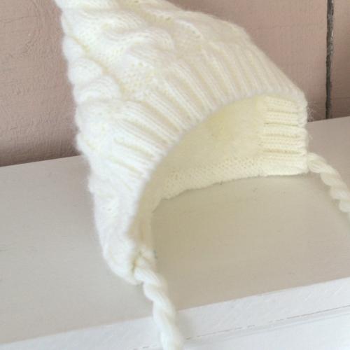 Вязаная шапочка Magbaby на махре молоко
