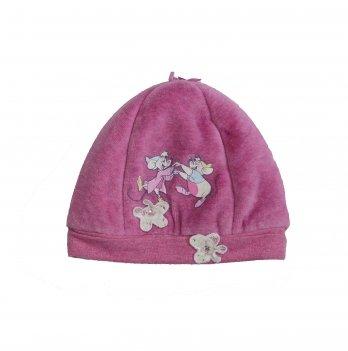 Шапка Brums Принт Мышки розовая