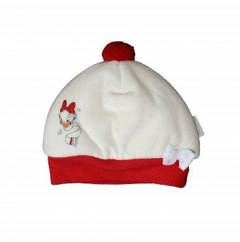 Шапка Brums помпон и бантик Daisy 123BCLA002 бело-красная