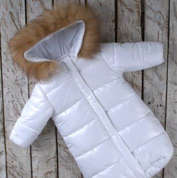 Зимний комбинезон для новорожденного Magbaby SuperStar Белый