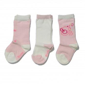 Носки розовые 3 пары, Brums Italy