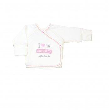 Распашонка Veres I love my mammy pink интерлок 103.81-9