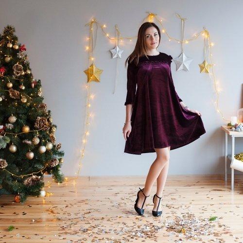 27699f291c6e Платье для беременных и кормящих MBerry dress бархатное, бордо ...