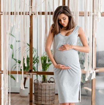 Платье для беременных и кормящих Lullababe Los Angeles LB04LS118 Меланж