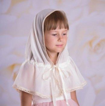 Палантин Натюрель для детей шифон Бетис 27081822 молочный 60х90 см