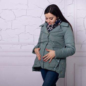 Весенняя куртка для беременных и кормящих Lullababe Прованс оливка