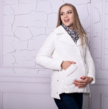 Весенняя куртка для беременных и кормящих Lullababe Прованс молочная