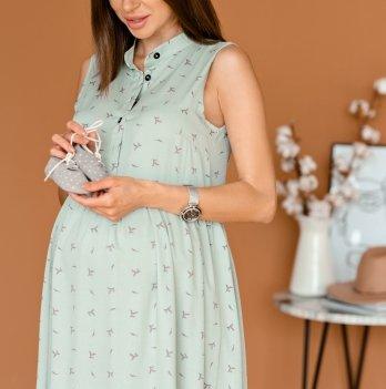 Летнее платье для беременных Lullababe Sofia Зеленый