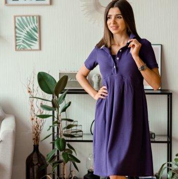 Летнее платье для беременных Lullababe Polo Sorento Фиолетовый