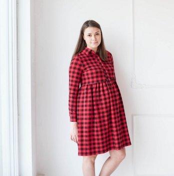 Платье для беременных и кормящих мам MBerry dress, красная клетка