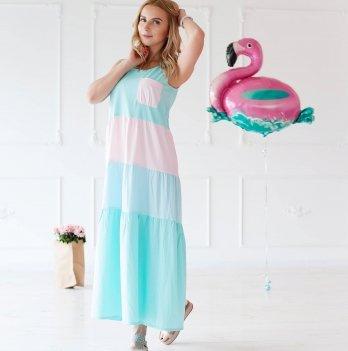 Легкое платье из шифона в пол MBerry dress oversize
