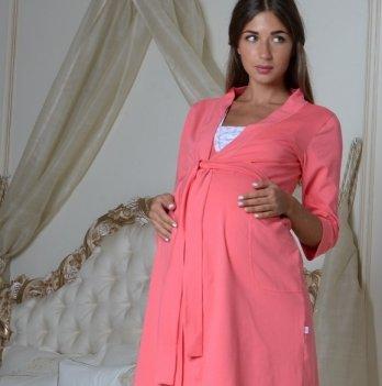 Халат классический для беременных Skif Textile, коралловый
