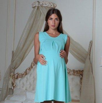 Ночная рубашка для беременных и кормящих Skif Textile, ментоловая