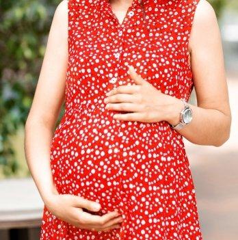 Летнее платье для беременных Lullababe Sofia Красный