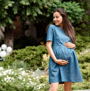 Джинсовое платье для беременных Lullababe Angelika