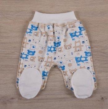 Ползунки для новорожденных,  Бетис Міні мішка, еврорезинка, голубые