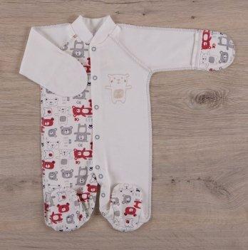 Человечек для новорожденных, Бетис Міні мішка, закрытый рукав, красный