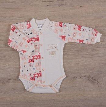 Боди для малышей, Бетис Міні мішка, с вышивкой, д.р., коралловый
