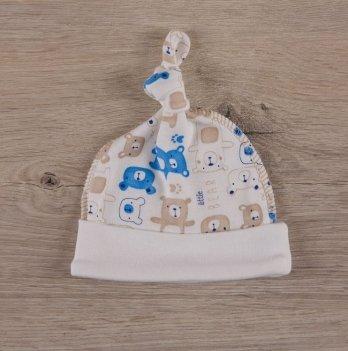 Шапочка для новорожденных,  Бетис Міні мішка, голубой