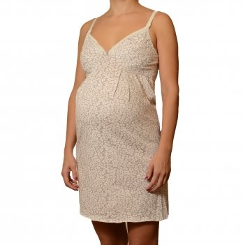 Ночная рубашка MammaLux для беременных и кормящих мам, на бретелях 803, Серая дымка