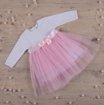 Платье Бетис Нежность интерлок/фатин Розовый 27075232 1,5-3 года