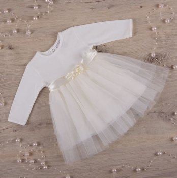 Платье Бетис Нежность интерлок/фатин Молочный 27075219