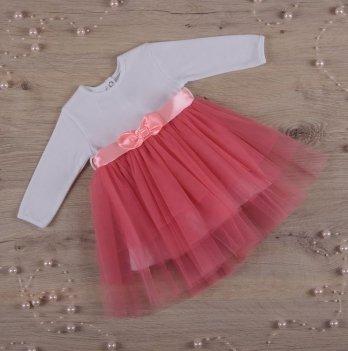 Платье Бетис Нежность интерлок/фатин Персиковый 27075243