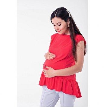 Блуза для беременных и кормящих Marmaris Lullababe с рюшей коралловый