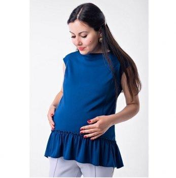 Блуза для беременных и кормящих Lullababe с рюшей электрик