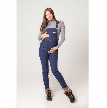 Джинсовый комбинезон для беременных MBerry dress Синий