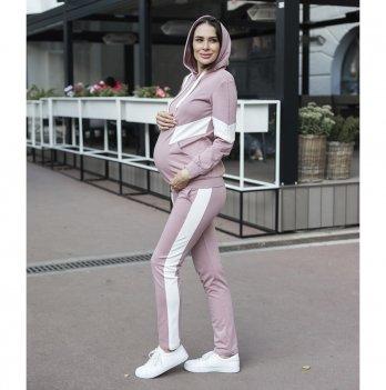 Спортивный костюм для беременных Юла мама Deniza Пудровый/Молочный ST-30.013