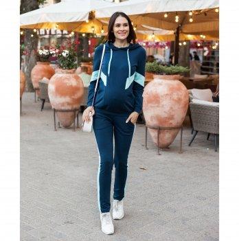 Спортивный костюм для беременных Юла мама Deniza Темно-синий/Светло-голубой ST-30.011
