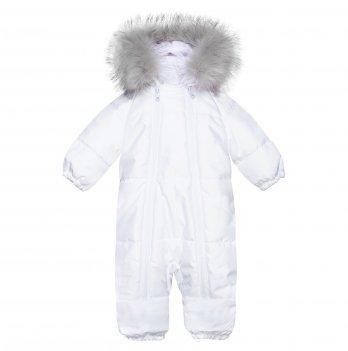 Зимний комбинезон для новорожденных ДоРечі Дискавери Белый с опушкой 1896