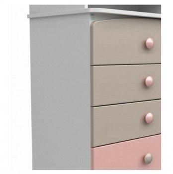 Комод-пеленатор Veres 600, капучино/розовый