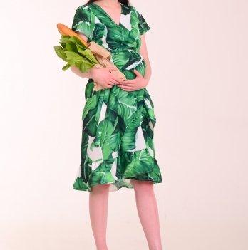 Платье для беременных и кормящих мам KITANA GREEN, White Rabbit
