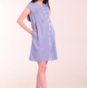 Платье-рубашка для беременных и кормящих мам LOLLI BLUE, White Rabbit
