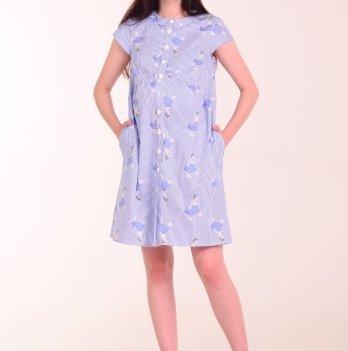 Платье-рубашка для беременных и кормящих мам LOLLI GIRL, White Rabbit