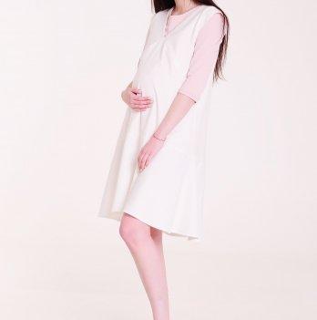 Платье-сарафан, White Rabbit, для беременных и кормящих мам OMELI (белый)