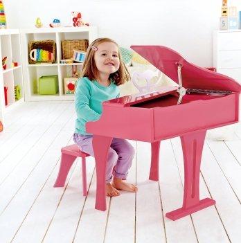 Розовое фортепиано, HAPE со стульчиком