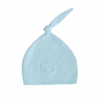 Шапочка с сердечком Effiki голубая