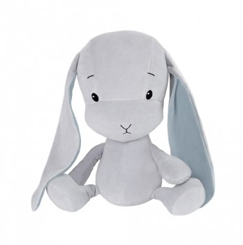 Зайчик Effiki серый, голубые ушки