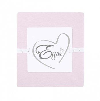 Простыня на резинке Effiki розовая