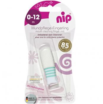Первая зубная щетка на пальчик (антибактериальная), NIP