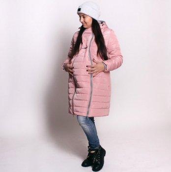 Слингокуртка зимняя 3 в 1 для беременных и кормящих мам Lullababe, розовая