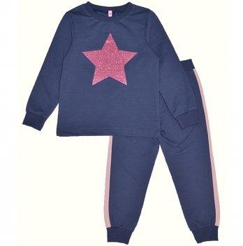 Детский спортивный костюм для девочки Vidoli Синий G-20627W