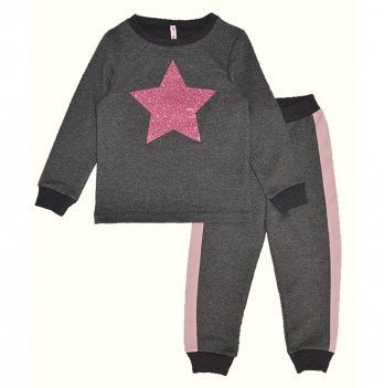Детский спортивный костюм для девочки Vidoli Серый G-20627W