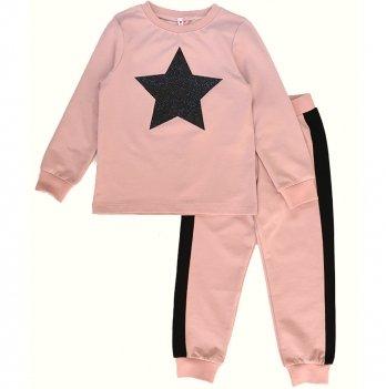 Детский спортивный костюм для девочки Vidoli Пудра G-20627W